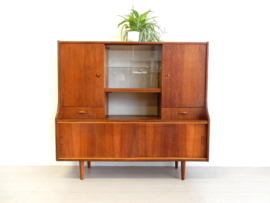 retro vintage kast wandmeubel dressoir jaren 60 teakhout