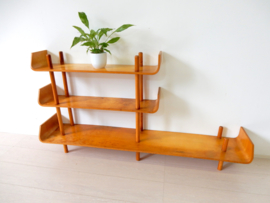 vintage boekenkast kast Willem Lutjens 1953 stokkenkast meubelfabriek Den Boer