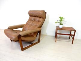 retro vintage fauteuil stoel design leer jaren 60 70