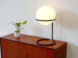 vintage tafellamp dressoir lamp jaren 60 / 70 bol melkglas