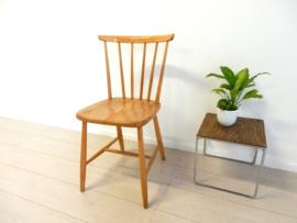 vintage stoel spijlenstoel jaren 60 eetkamerstoel