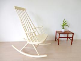 Vintage stoel spijlenstoel fauteuil schommelstoel 60s