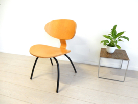 retro vintage plywood fauteuil stoel design jaren 80 ikea