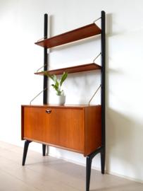 Vintage wandmeubel kast dressoir jaren 50 Webe Louis van Teeffelen