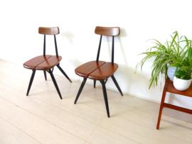 vintage stoel Ilmari Tapiovaara LAUKAAN jaren 60 Pirkka