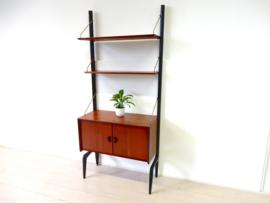 Vintage boekenkast kast jaren 50 Webe Louis van Teeffelen wandmeubel