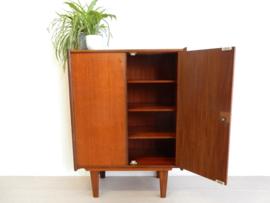 retro vintage kast wandkast boekenkast jaren 60 teak