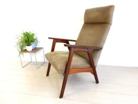 retro vintage fauteuil stoel design jaren 60 teak