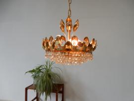 retro vintage hanglamp hollywoodregency jaren 60 goud kleur
