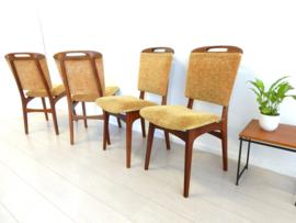 retro vintage stoel eetkamerstoel jaren 60 design teak