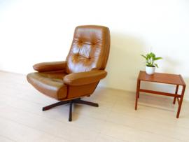 retro vintage fauteuil stoel design jaren 60 g meubel zweden leer