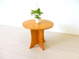 retro vintage bijzettafel tafel jaren 50 rond plantentafel
