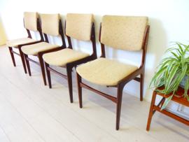 retro vintage stoel eetkamerstoel jaren 60 / 70 stoelen