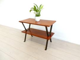 retro vintage bijzettafel plantentafel jaren 60 tafel