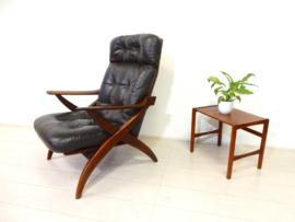 retro vintage fauteuil stoel design jaren 60 topform leer