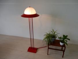 retro vintage vloerlamp lamp jaren 90 rood