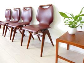 retro vintage stoel jaren 60 eetkamerstoel teak