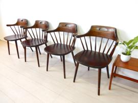 retro vintage stoel spijlenstoel jaren 50 Yngve Ekström