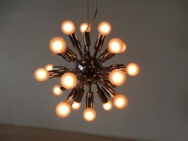 retro vintage space age hanglamp plafondlamp sputnik chroom