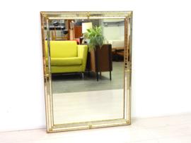 Vintage spiegel hollywood regency goud messing