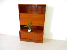 retro vintage boekenkast kast dressoir jaren 60