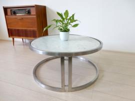 retro vintage design salontafel tafel marmer jaren 80 rond