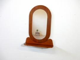 Vintage spiegel teakhout jaren 60