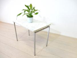 retro vintage bijzettafel plantentafel marmer jaren 60 / 70