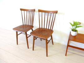 retro vintage stoel spijlenstoel eetkamerstoel jaren 60