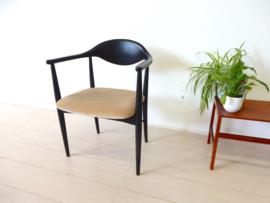 vintage stoel eetkamerstoel jaren 60 bureaustoel armleuning