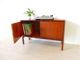retro vintage kast lp kast dressoir tv meubel jaren 60 platenkast