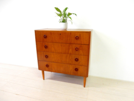 XL retro vintage ladekast kast jaren 60 teak hout