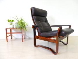 vintage Fagas J.M Birking fauteuil Deens design jaren70 leer