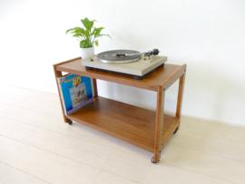 retro vintage bijzettafel kast jaren 70 tv meubel lp kast