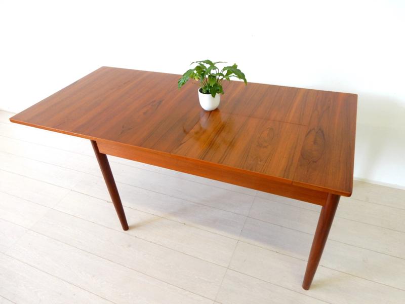 XL retro vintage eettafel tafel jaren 60 teak hout