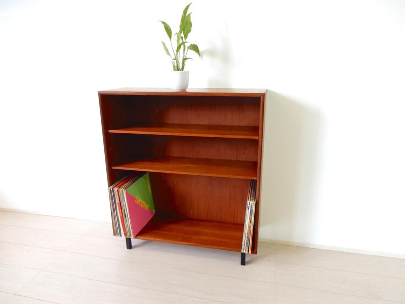 Vintage kast boekenkast lp platen kast jaren 60