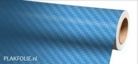 Carbon li. blauw 3D (wrap) folie 152CM
