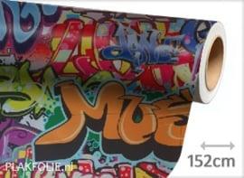 Graffiti Kleur (wrap) folie 152CM