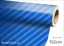 Carbon blauw 2D (wrap) folie 152CM BREED x P/M