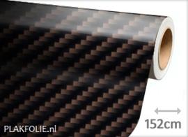 Carbon bruin glans 2D (wrap) folie 152CM BREED x P/M