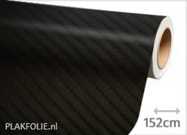 Carbon zwart 4D (wrap) folie 152CM BREED x P/M