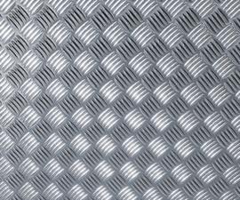 Traanplaat Alu/Zilver 90CM X 75CM