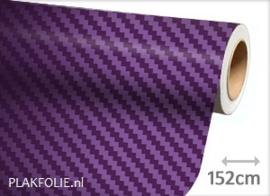 Carbon paars 3D (wrap) folie 152CM