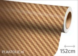 Carbon goud 3D (wrap) folie 152CM BREED x P/M