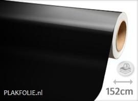 Glans zwart (wrap) folie 152CM BREED x P/M