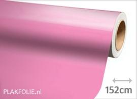 Glans roze (wrap) folie 152CM BREED x P/M