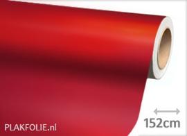 Mat chroom rood (wrap) folie 152CM