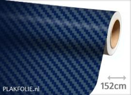 Carbon donker blauw 3D (wrap) folie 152CM BREED x P/M