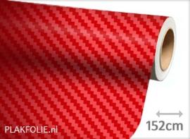 Carbon rood 3D (wrap) folie 152CM BREED x P/M