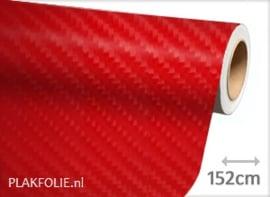 Carbon rood 4D (wrap) folie 152CM BREED x P/M